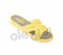Spokey Intro - klapki basenowe damskie r.39 (żółto-szary)