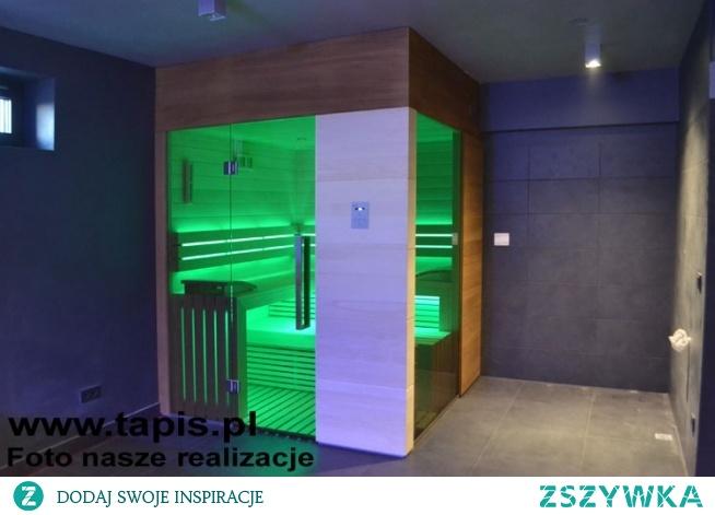 Nowoczesna sauna Design. Producent: TAPIS.PL