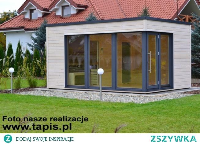 Domek saunowy ARIES z sauną fińską, prysznicem i częścią relaksacyjną. Producent: TAPIS.PL