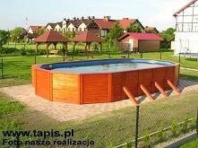 Basen drewniany o długości 9 metrów. Producent: TAPIS.PL