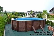 Basen drewniany o długości 5 metrów. Producent: TAPIS.PL