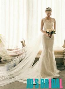 H1660 sexy złudzenie koronkowe suknie ślubne syreny