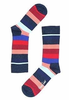 Granatowe Skarpetki Stripe Happy Socks