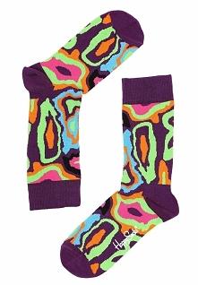 Fioletowe Skarpetki Mri Happy Socks