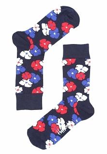 Granatowe Skarpetki Kimono Happy Socks