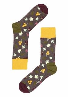 Ciemnoszare Skarpetki Fall Happy Socks