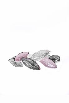 Różowo-szara bransoletka z liśćmi QUIOSQUE