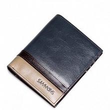 Sammons Krótki męski portfel Niebieski  (350179-06)