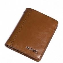 Sammons Krótki skórzany męski portfel Brązowy  (350180-57)