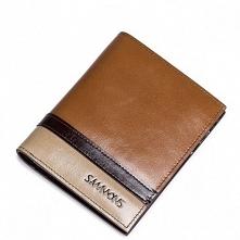 Sammons Krótki męski portfel Brązowy  (350179-57)