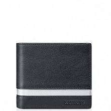Sammons Skórzany krótki męski portfel czarny  (350273-01)