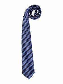Krawat w kolorze granatowo-niebieskim - 150 x 7,5 cm