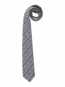 Krawat w kolorze granatowym - 150 x 6,5 cm