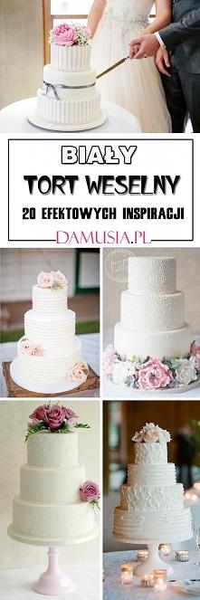 Biały Tort Weselny: 20 Efektownych Inspiracji na Tort w Bieli