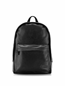 Skórzany plecak w kolorze czarnym - (S)36 x (W)43 x (G)11 cm