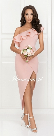 Asymetryczna sukienka z pię...
