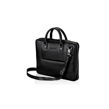 Skórzana czarna męska torba na laptopa Solier Belfast