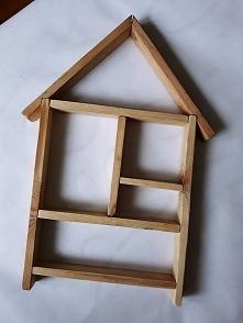 drewniana półka - domek @brzostula