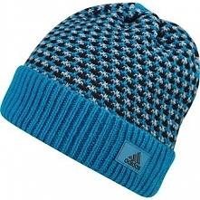 Adidas Czapka męska Climaheat Striped Knit Woolie niebieska (AY4914)
