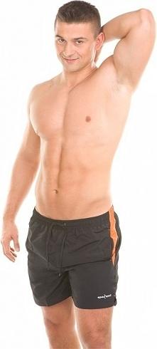 Aqua-Speed Szorty kąpielowe męskie Thomas Aqua-Speed czarno-pomarańczowy roz. XL