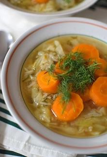 Zupa z młodej kapusty z ryż...