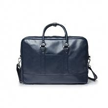 Granatowa elegancka torba na laptopa Solier S04