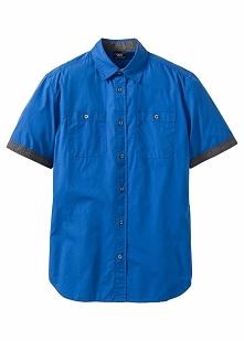 Koszula z krótkim rękawem Regular Fit bonprix lazurowy
