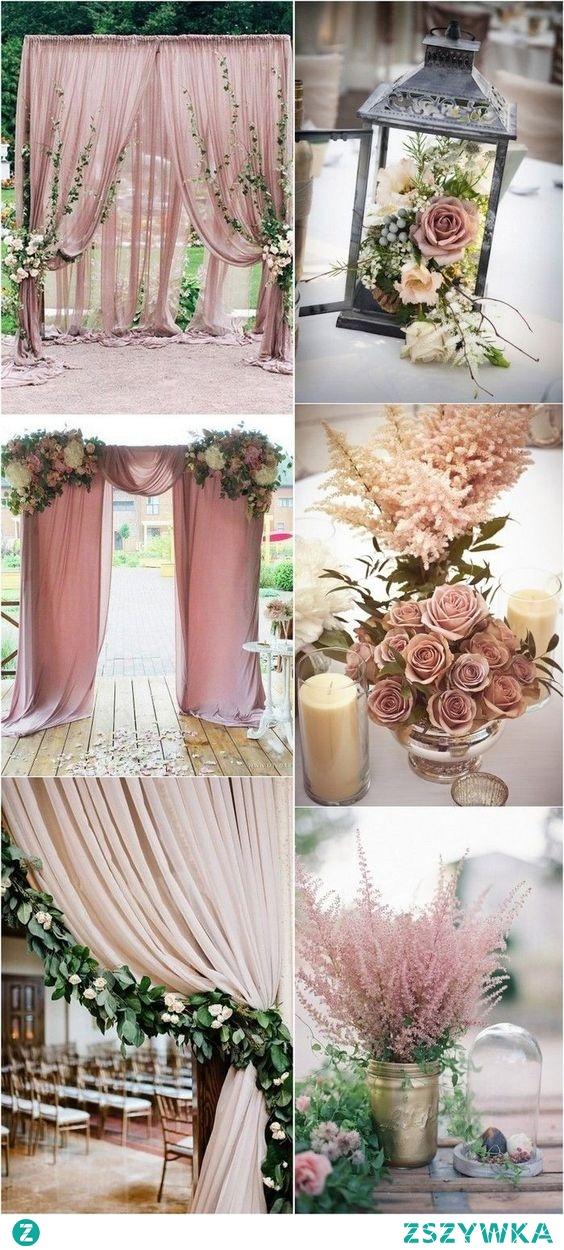 Piękny, delikatny wystrój weselnej sali <3