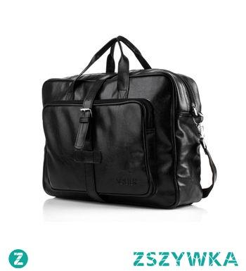 9f535c71430ac Czarna torba męska na ramię Solier S10 vintage na Torby - Zszywka.pl