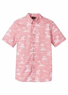 Koszula z krótkim rękawem Regular Fit bonprix jasnoróżowy