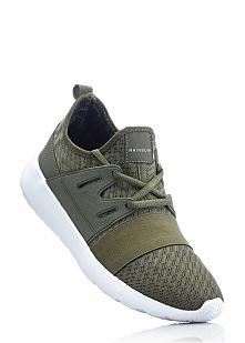 Sneakersy bonprix ciemnooliwkowy