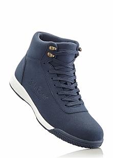 Wysokie sneakersy bonprix ciemnoniebieski