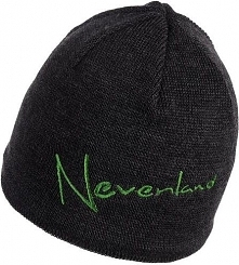 NEVERLAND Czapka męska Note czarno-zielona (P-04-NOTE-736-UNI)
