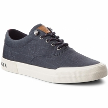 Tenisówki TOMMY HILFIGER - Heritage Washed Canvas Lace Up FM0FM01656 Midnight...