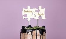 Toper Topper na tort 3 puzzle na ślub i wesele