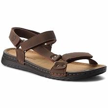 Sandały LANETTI - MS17016-1 Brązowy