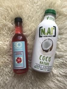 Kombucha i Napój kokosowy uwielbiam te smaki