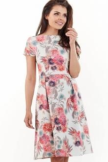 Kwiatowa sukienka odcinana ...
