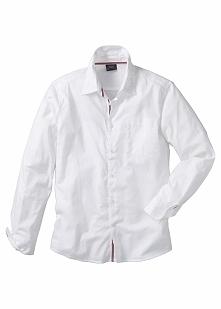 Koszula z długim rękawem Regular Fit bonprix biały