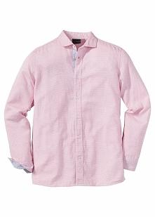 Koszula z długim rękawem Regular Fit bonprix czerwony wzorzysty