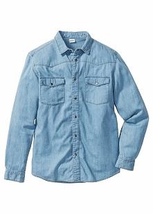 Koszula dżinsowa Slim Fit bonprix jasnoniebieski