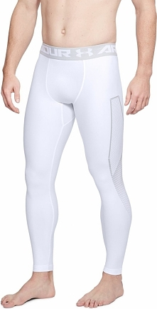 Under Armour Legginsy męskie HG Armour Legging Graphic białe r. S (1320202-100)