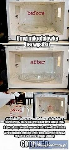 szybki sposób na umycie mik...