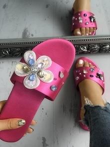 Floral Shiny Embellished Peep Toe Flat Sandals Rozmiar: US5.5, US6, US7, US8,...