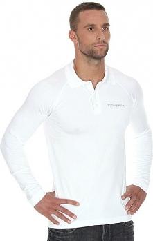 Brubeck Koszulka męska polo Prestige z długim rękawem biała r.  XXL (LS10620)