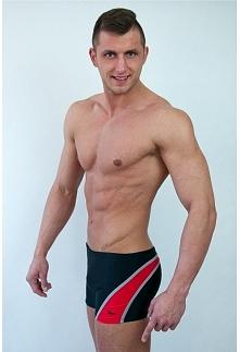 Belibe Sport Kąpielówki 1400 m1418 czarno czerwone r. 2XL