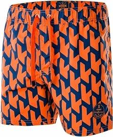 AQUAWAVE Szorty męskie Waveshorts Celosia Orange Print/Insignia Blue r. XXL