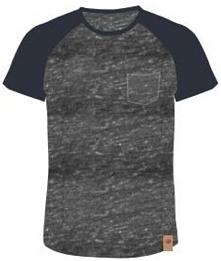 AQUAWAVE T-shirt męski Bama Grey Melange/ Blueberry r. M