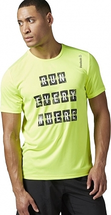 Reebok Koszulka męska Running Essential zielona r. S (BK7280)