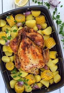 Kurczak pieczony w całości - najlepszy przepis